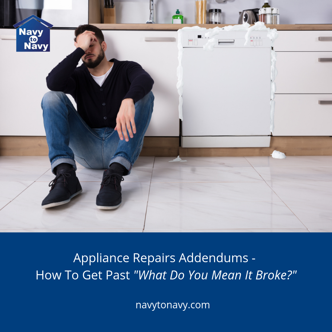 appliance repair addendums - navy to navy homes
